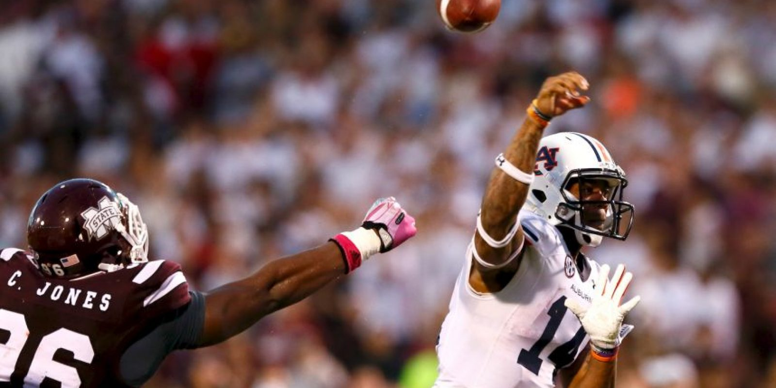 Ahora es considerado uno de los mayores prospectos de la NFL. Foto:Getty Images