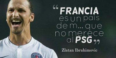 9. Zlatan explotó luego de un duelo ante Burdeos en la Ligue 1. En los túneles del estadio, el sueco despotricó contra el arbitraje y de paso, se llevó a todo el país entre las piernas. Foto:Getty Images
