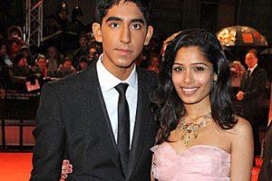 Patel también se hizo famoso por su romance con Freida Pinto, su coprotagonista. Foto:vía Getty Images