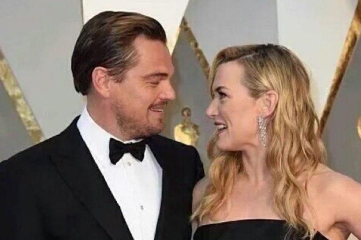 """El nuevo gran reencuentro de la inolvidable pareja de """"Titanic"""": Leonardo DiCaprio y Kate Winslet. Los ex protagonistas de la cinta estrenada en 1997 se han vuelto a ver las caras, esta vez en la versión número 88 de los Premios Oscar. Foto:Getty Images"""