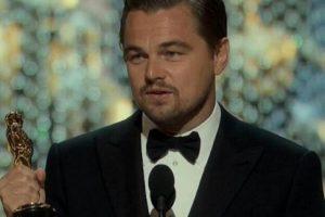 """La quinta fue la vencida, Leonardo DiCaprio por fin consiguió el Oscar como """"Mejor actor"""". Leo agradeció a Tom Hardy, a Alejandro González Iñárritu y a Emmanuel Lubezki. Además durante su discurso habló sobre el cambio climático e hizo conciencia sobre el planeta. Foto:Getty Images"""