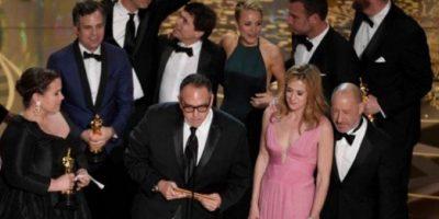 """La cinta """"Spotligh"""" fue la gran ganadora de la noche al recibir el Oscar como """"Mejor película"""". Foto:Getty Images"""