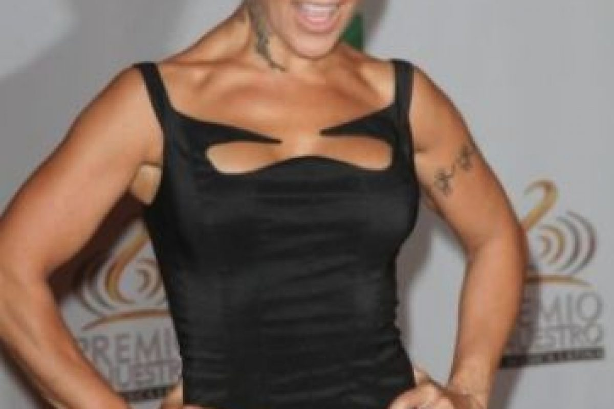 Alejandra Guzmán: su esposo, Farell Goodman, fue arrestado en Alemania intentando transportar 1.6 kilogramos de éxtasis; estuvo preso durante 9 meses. Foto:Getty Images