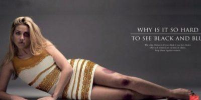 El vestido protagoniza campaña contra la violencia doméstica. Foto:Twitter @SalvationArmySA