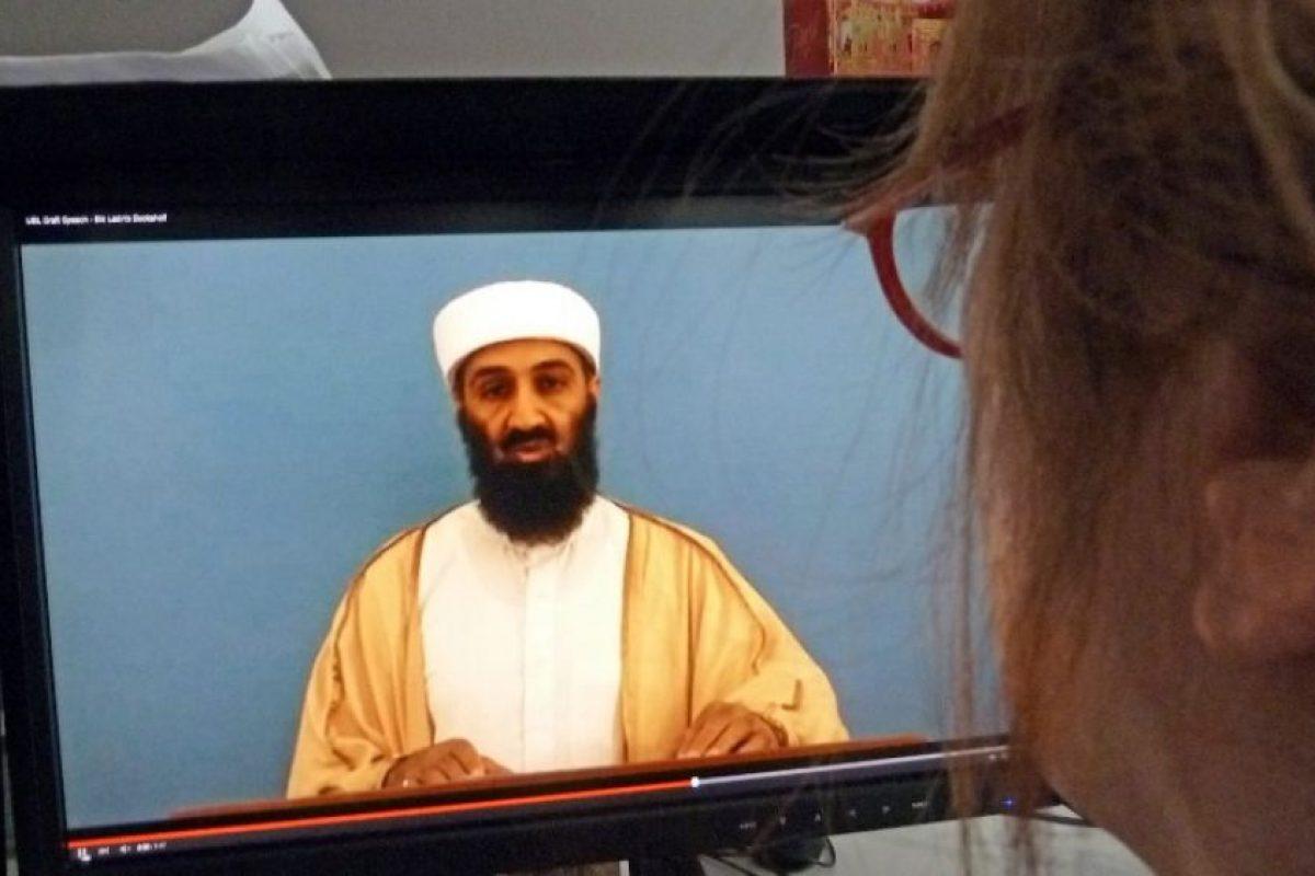 Video en el que aparece el extinto líder terrorista, Osama Bin Laden. Foto:AFP