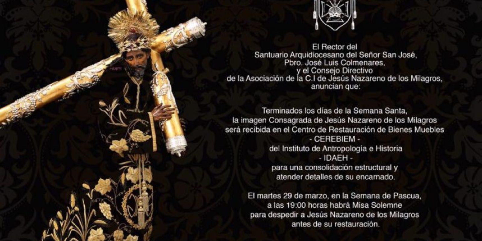 Foto:Facebook/Jesús de los Milagros