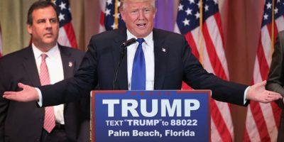 Chris Christie, gobernador de Nueva Jersey, lo apoyó. Foto:vía Getty Images