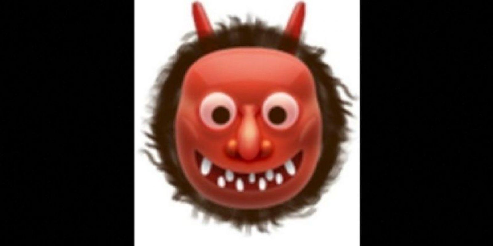 8. También usado para representar al demonio, aunque en verdad es un ogro japonés. Foto:vía emojipedia.org