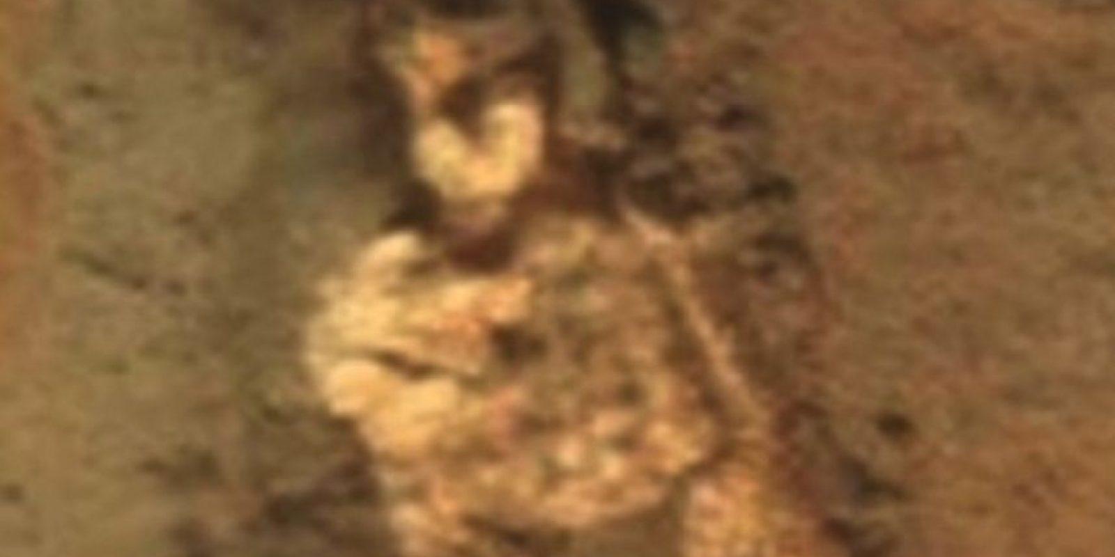 Supuesto esqueleto alienígena descubierto en Marte en junio de 2015 Foto:NASA