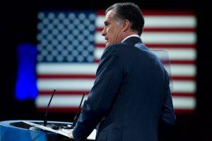 Mitt Romney durante un discurso en Estados Unidos. Foto:AFP