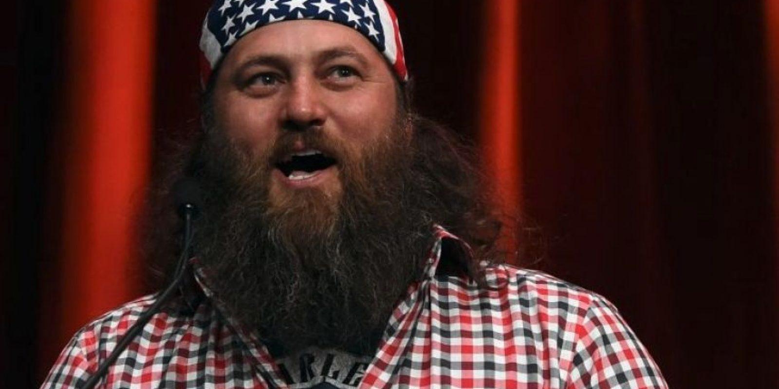 """Willie Robertson. El empresario y estrella de """"Duck Dynasty"""" de A&E apoyó Trump en un rally en Oklahoma el año pasado, donde fue invitado al escenario Foto:Getty Images"""