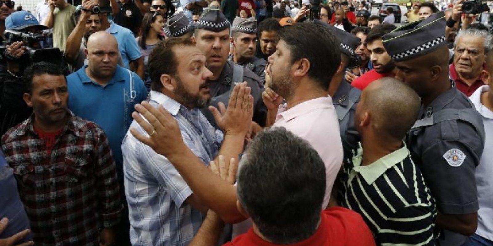Pero, comenzaron a calentarse los ánimos Foto:AFP