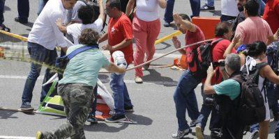 Mismos que dejaron algunos heridos Foto:AP