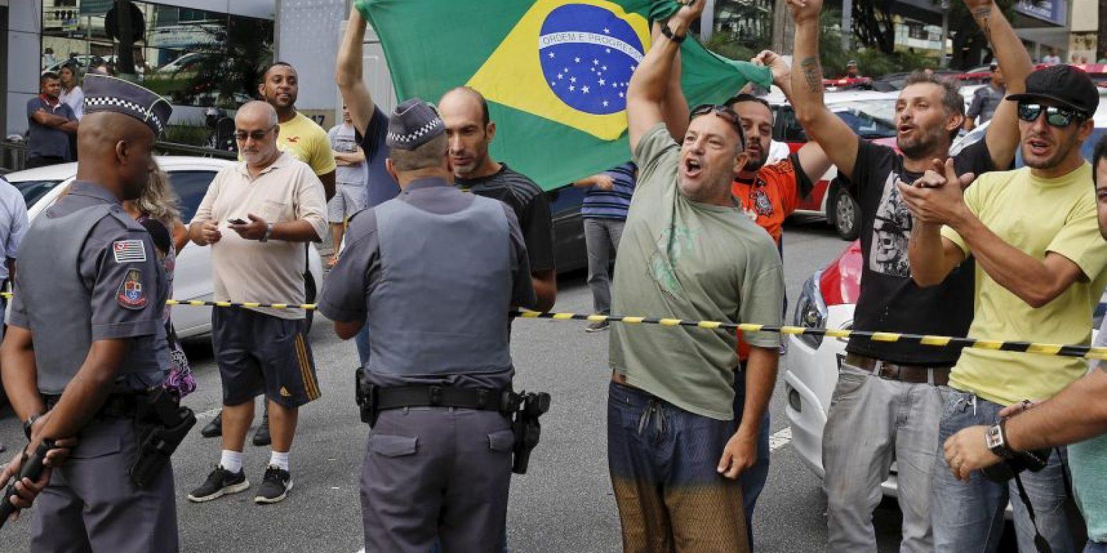 Pero comenzaron a calentarse los ánimos Foto:AP