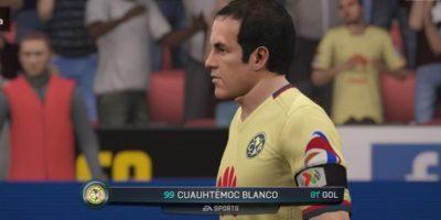 Así luce Cuauhtémoc Blanco en la última actualización del FIFA 16. Foto:EA Sports
