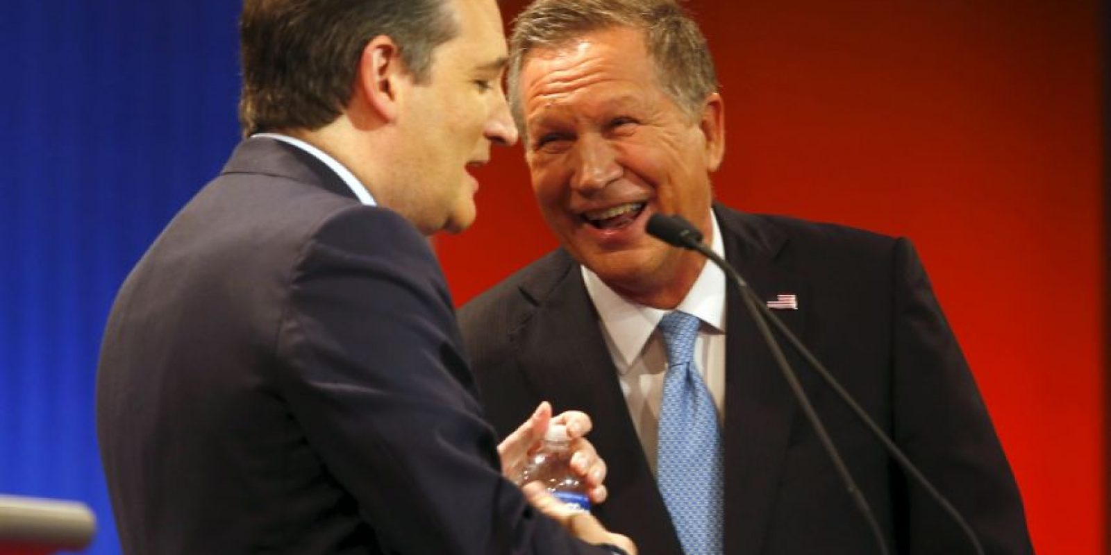 """John Kasich: """"Yo estuve ahi cuando Ronald Reagan reconstruyó la economía. Yo trabajé con él"""" Foto:AP"""