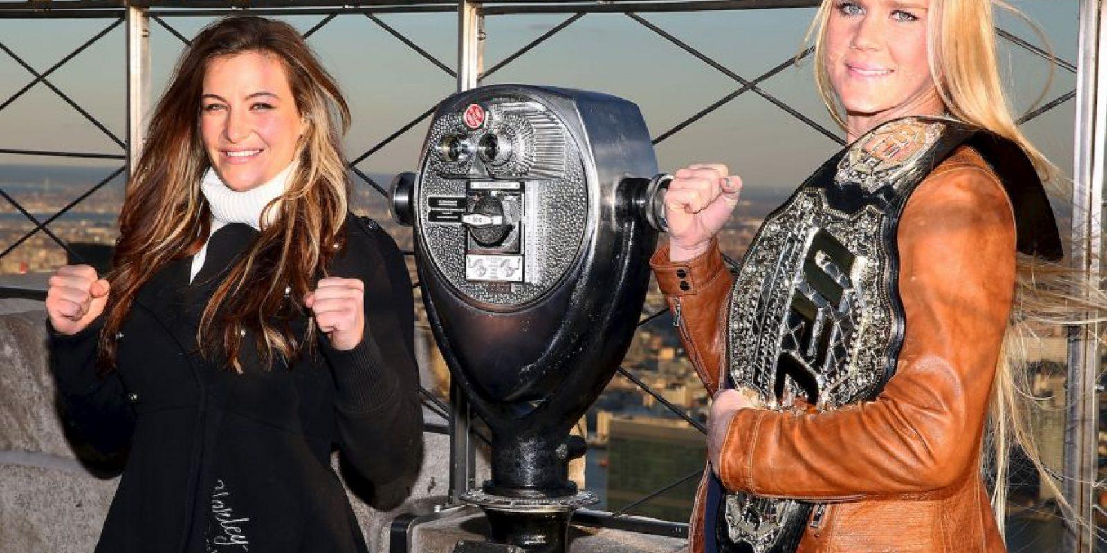 ¿Quien se quedará con el cinturón? Holly Holm y Miesha Tate disputan el campeonato de Peso Gallo de Mujeres de la UFC. Foto:Getty Images