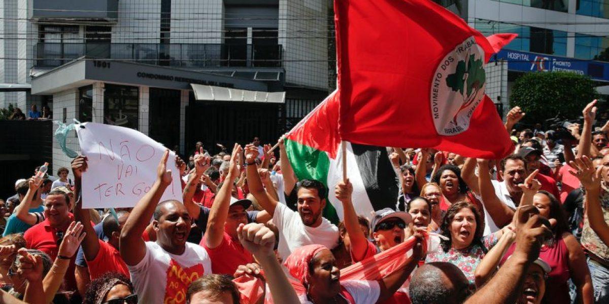 Petrobras, Brasil, protesta apoya a Lula