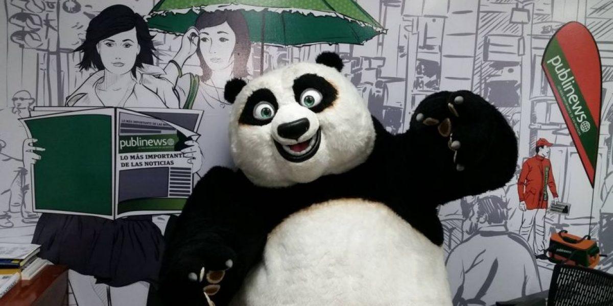 Po visita Publinews para promocionar Kung Fu Panda 3
