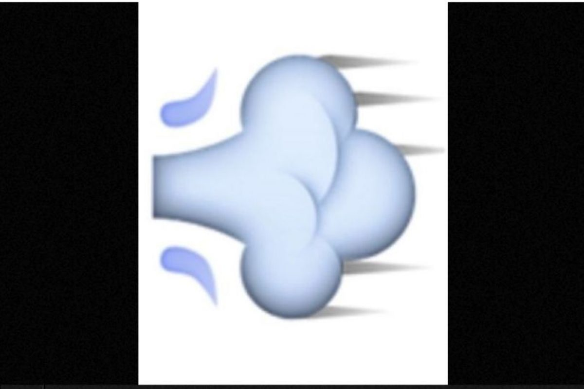 Usado para representar fratulencias, en realidad es una ráfaga de aire que representa el movimiento rápido de una persona o un objeto. Foto: emojipedia.org