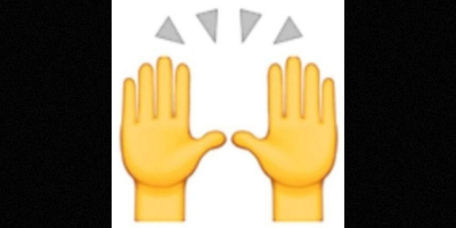 Las dos manos en muchas ocasiones son empleadas para alabar u orar, pero en realidad representan la celebración del éxito u otro acontecimiento feliz Foto: emojipedia.org