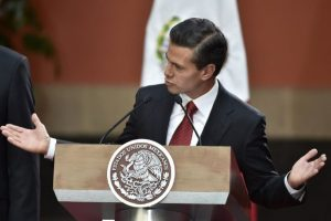El presidente de México, Enrique Peña Nieto, durante un discurso. Foto:AFP