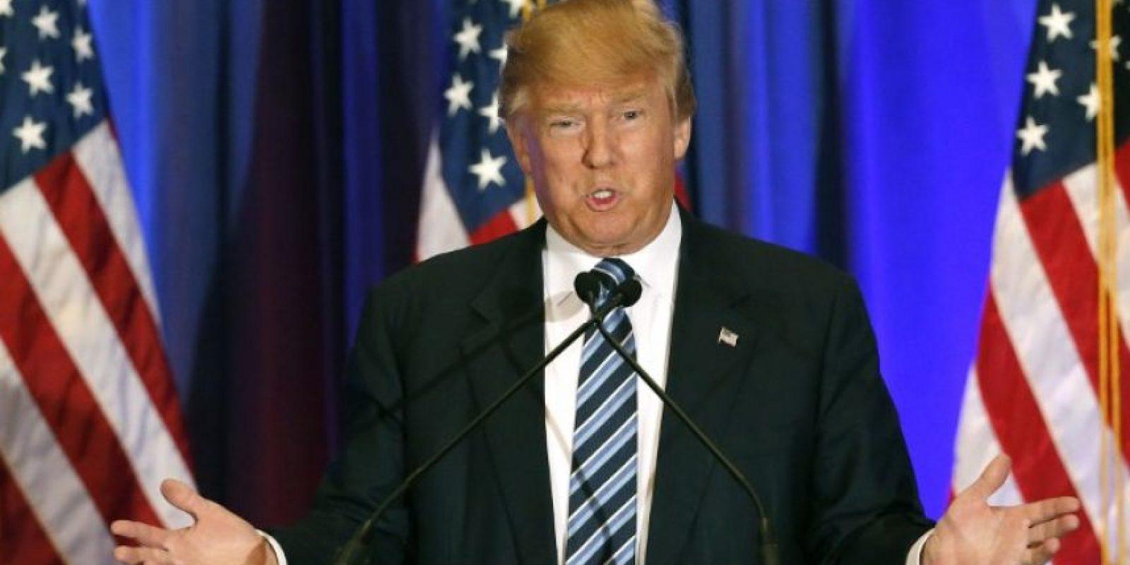 El candidato republicano, Donald Trump, durante, un discurso. Foto:AFP