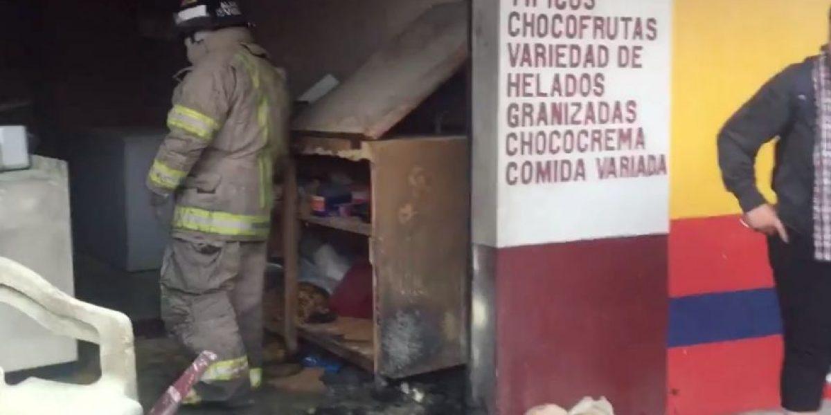 Explosión de bomba en venta de comida en zona 6 deja tres heridos