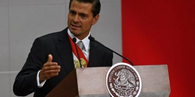 El presidnente mexicano, Enrique Peña Nieto, durante un discurso. Foto:AFP