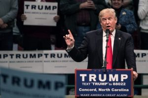 El candidato republicano, Donald Trump, durante un discurso. Foto:AFP