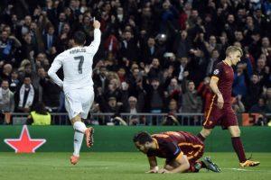 Cristiano Ronaldo celebra un gol en el partido Real Madrid vs Roma, por Champions League. Foto:AFP