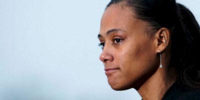Marion Jones. Fue despojada de las tres medallas de oro y dos de bronce que ganó en los Juegos Olímpicos de Sidney 2000, después de admitir su dopaje durante la competencia Foto:Getty Images