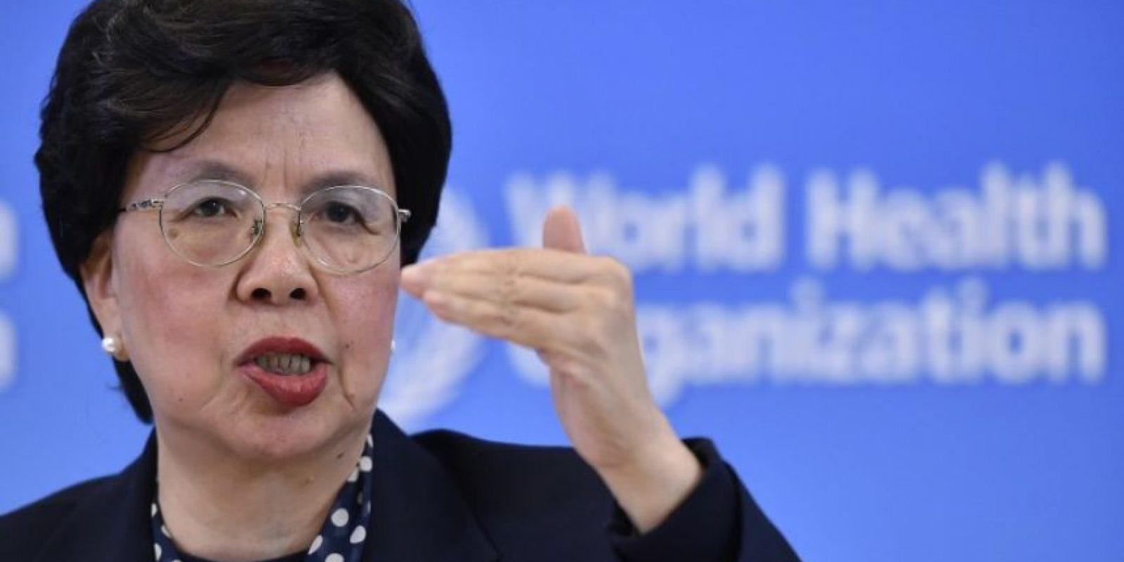 La directora de la OMS, Margaret Chan, durante una conferencia de prensa. Foto:AFP