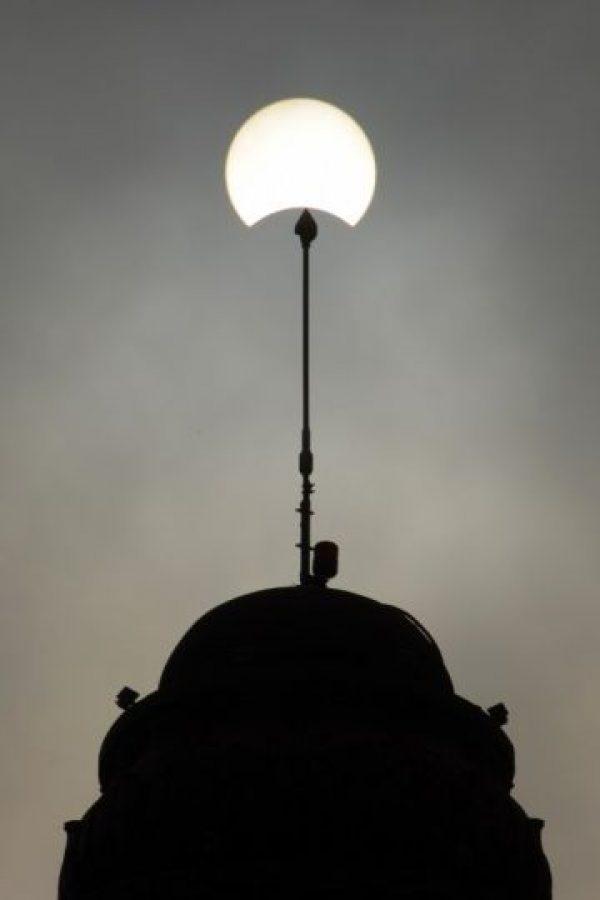 Así se pudo apreciar el eclipse solar Foto:AFP