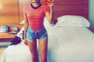 Así luce sus piernas Shanina en Instagram Foto:Vía Instagram/@shaninamshaik