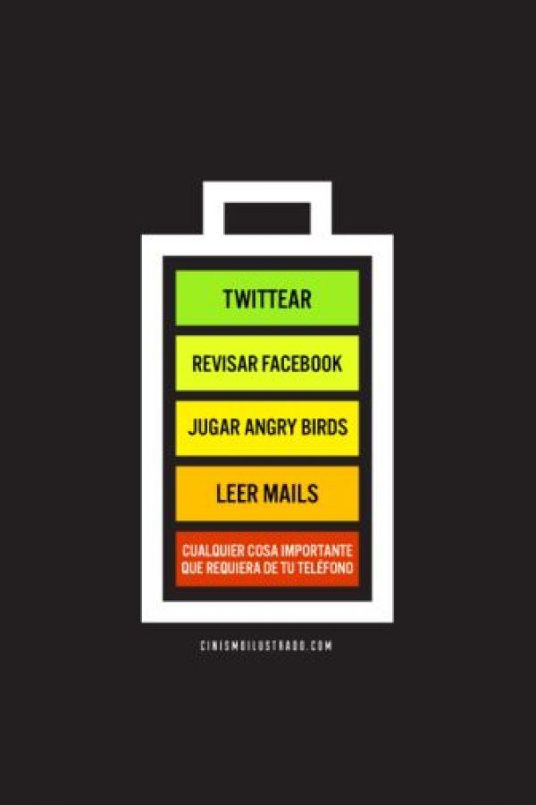 Existen pequeños trucos que deben seguir para conservar la vida de la batería del smartphone. Foto:Tumblr
