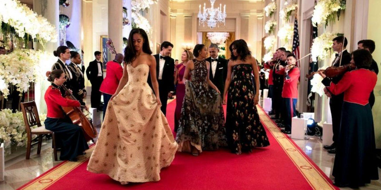 Así debutaron las hijas de Obama en las cenas oficiales Foto:whitehouse.gov