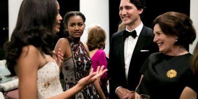 Las jóvenes tuvieron oportunidad para conversar con el primer ministro Justin Trudeau. Foto:whitehouse.gov