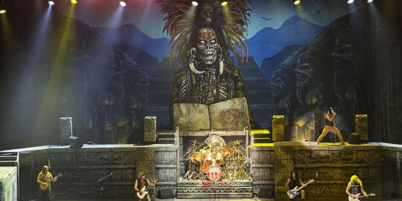 "Estas son algunas imágenes de la gira de Iron Maiden ""The Book of Souls"" Foto: Grosby Group"