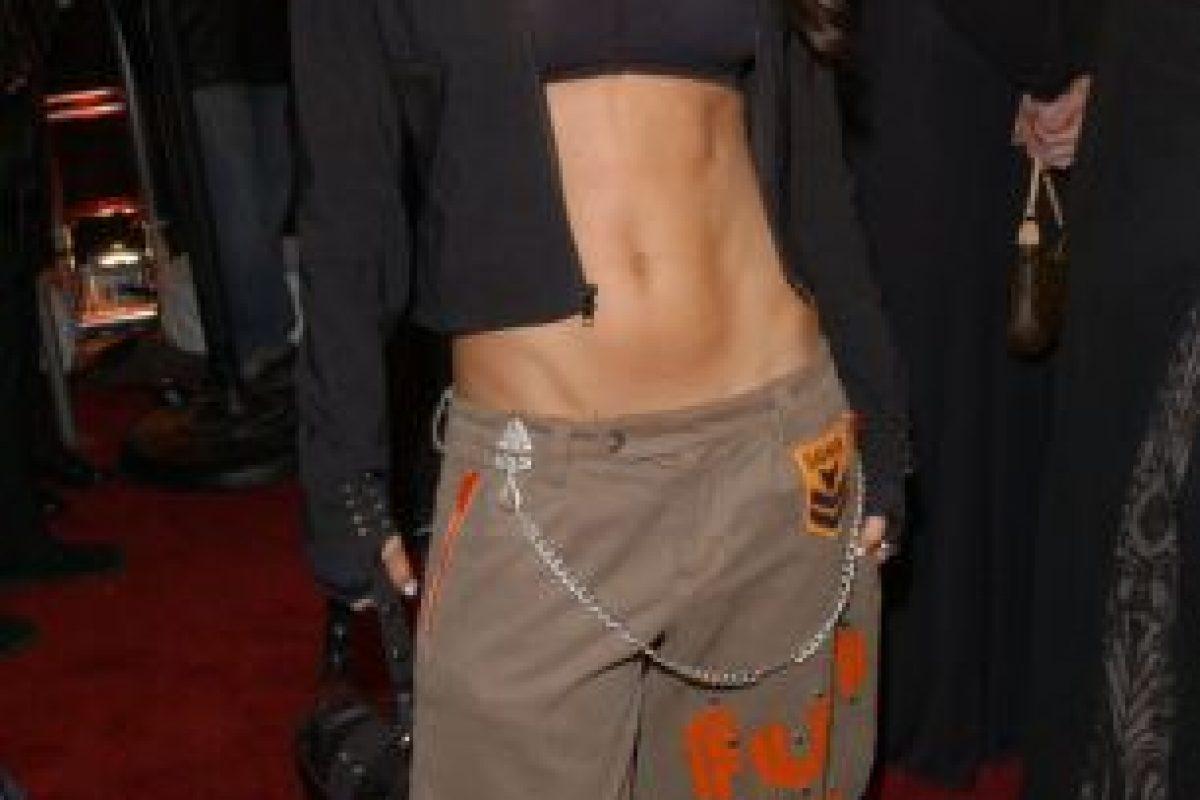 Estos pantalones de Fergie. Foto:vía Getty Images