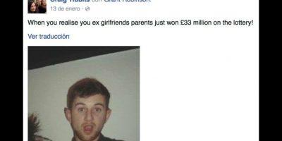 """Grant Robinson, fue llamado el """"exnovio más desafortunado"""" en Gran Bretaña Foto:Vía facebook.com/craig.tibbits"""