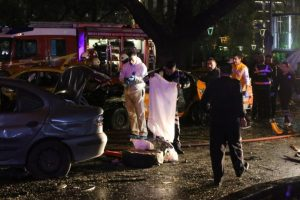 Los heridos fueron trasladados a los hospitales posibles Foto:AFP