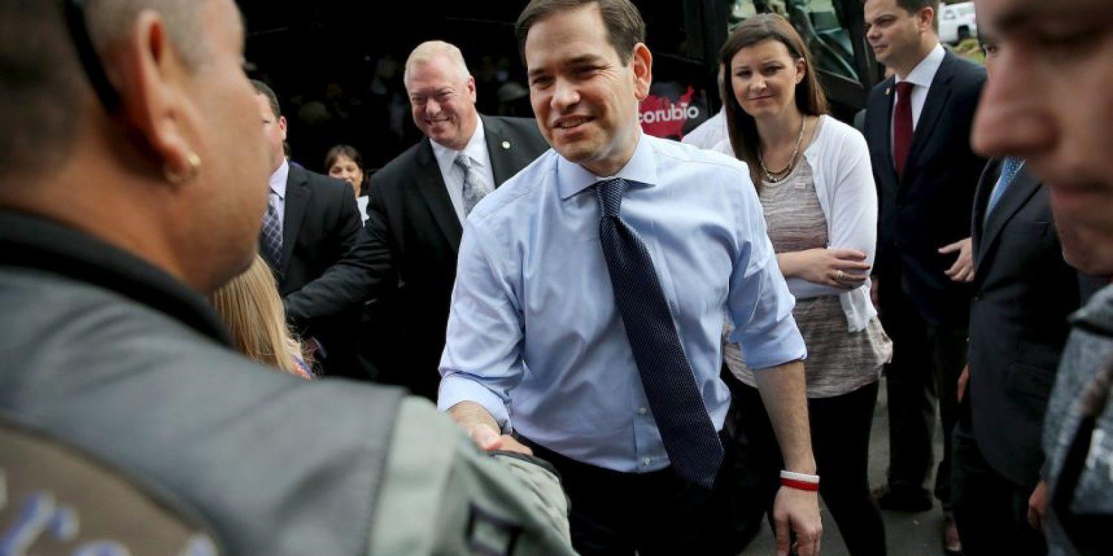 Este martes Marco Rubio se enfrentara a sus opositores republicanos en las primarias de Florida. Foto:AFP