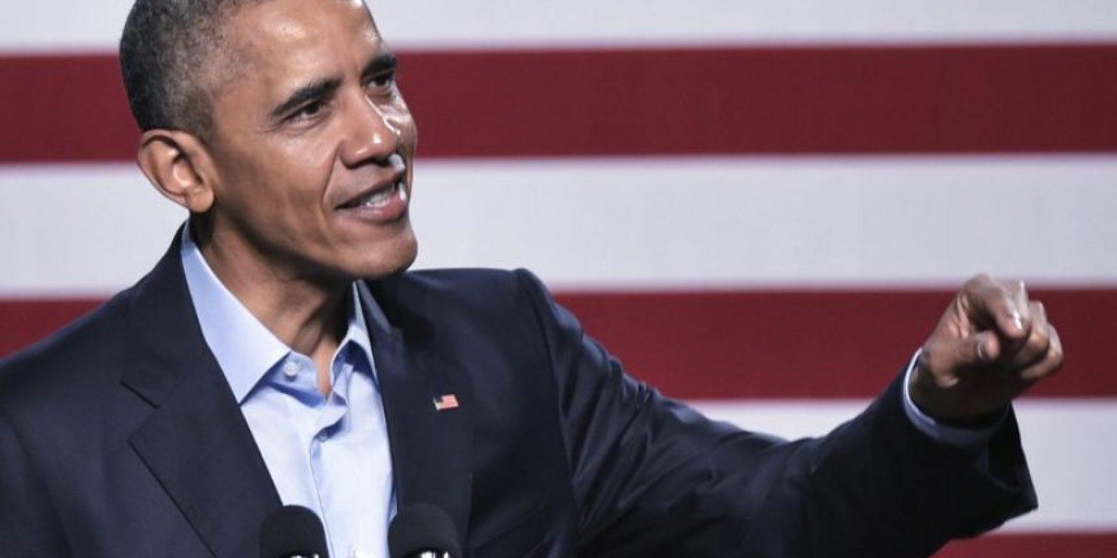 El presidente estadounidense, Barack Obama, durante un discurso. Foto:AFP