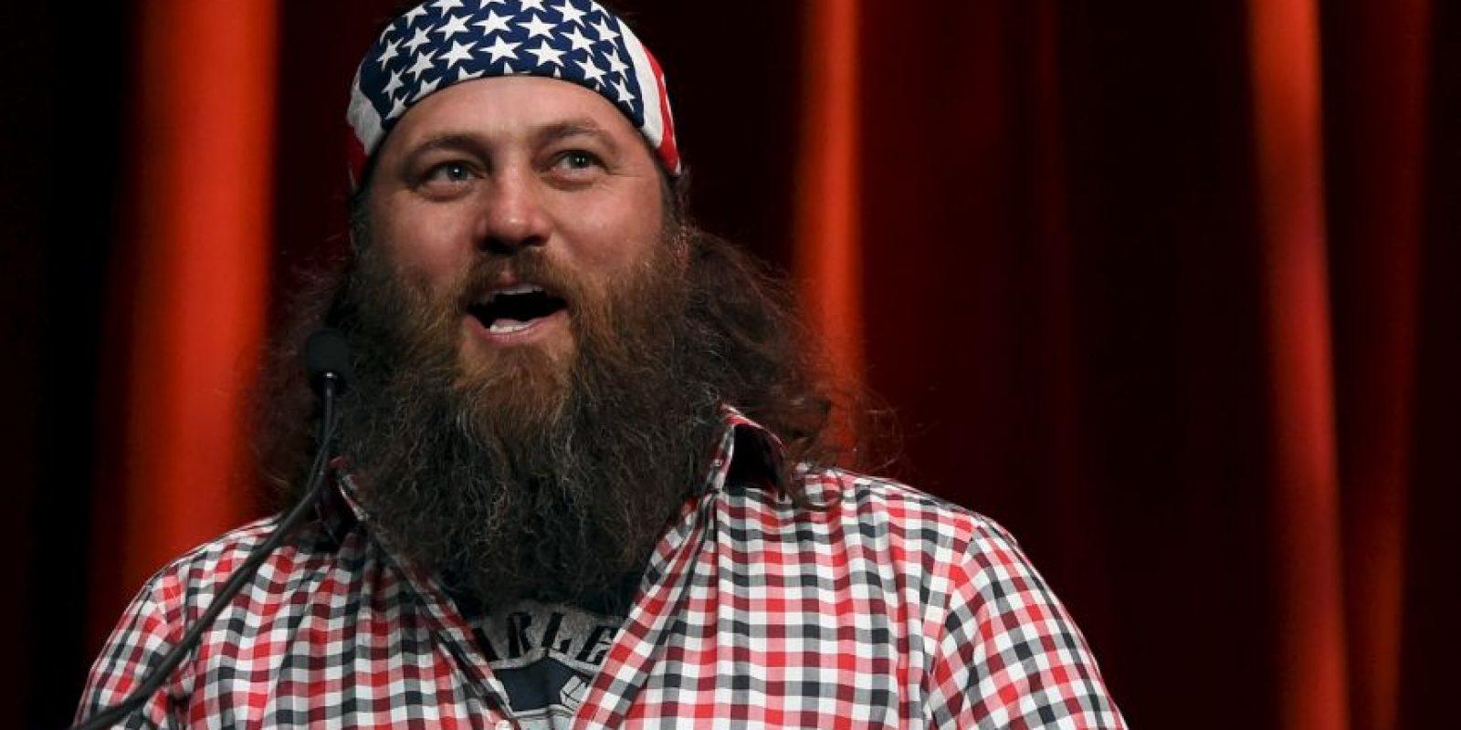 """Willie Robertson. El empresario y estrella de """"Duck Dynasty"""" de A&E apoyó Trump en un rally en Oklahoma el año pasado, donde fue invitado al escenario. Foto:Getty Images"""