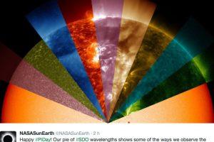 La NASA también se unió a la celebración. Foto:Twitter
