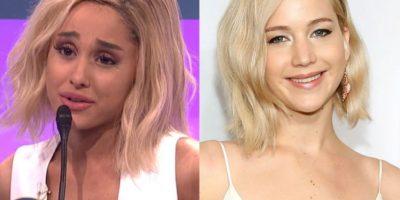 Video. Ariana Grande imita a la perfección a Jennifer Lawrence