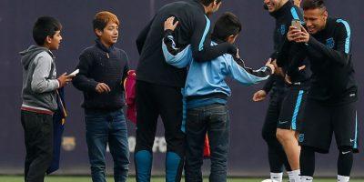 Niños ecuatorianos ingresan al entreno del FC Barcelona