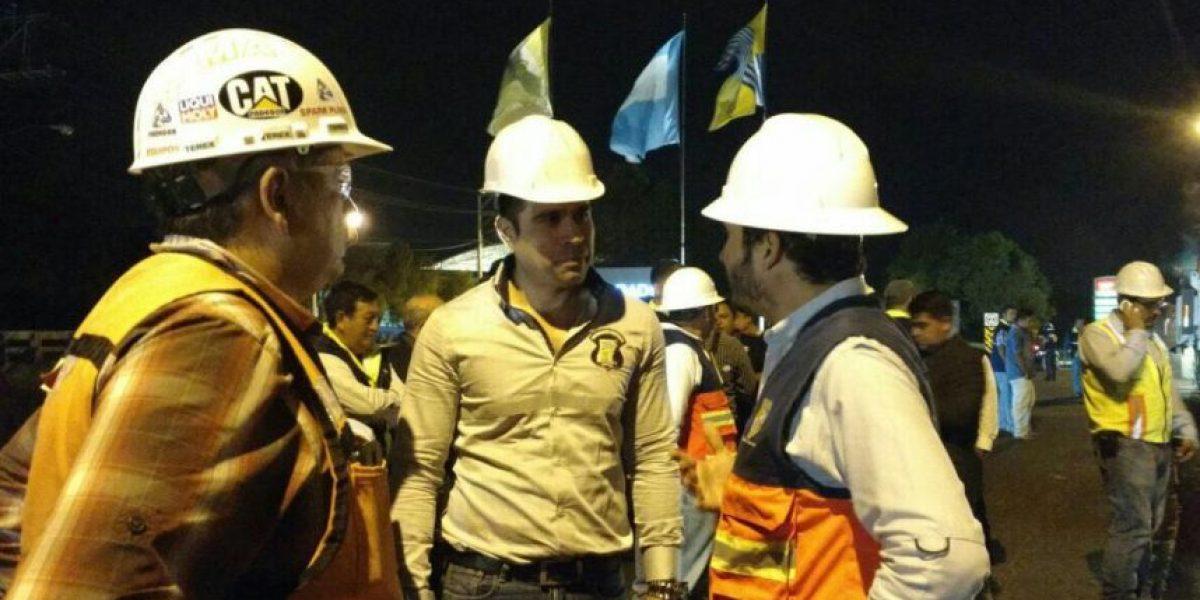 Neto Bran inaugura trabajos de recapeo en Bulevar El Naranjo