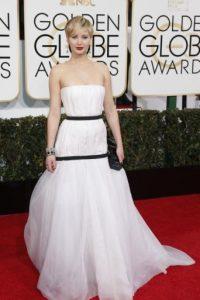 Este vestido de Dior ensanchó a Jennifer Lawrence. Foto:vía Getty Images